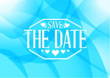 Save the date light blue card illustration Stock Photo