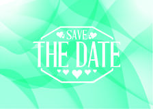 Save the date light green card illustration design Stock Images