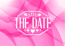 Save the date light pink card illustration Stock Images