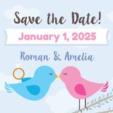 Save the Date - Love Birds Theme royalty free illustration