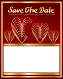 Save The Date love nine decoration Royalty Free Stock Photography