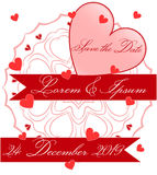 Save the Date Ornament Card Royalty Free Stock Image