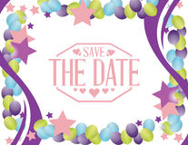 save the date party card sign Stock Image