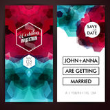 Save the date for personal holiday. Set of wedding invitation cards. Vector image Stock Photography