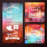 Save the date for personal holiday and thank you card. Wedding i Stock Images