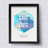 Save the date for personal holiday. Wedding invitation. Black fr Royalty Free Stock Images