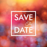 Save the date for personal holiday. Wedding invitation, blurred Royalty Free Stock Image