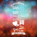 Save the date for personal holiday. Wedding invitation, blurred Royalty Free Stock Images