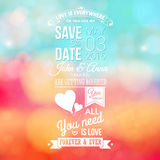 Save the date for personal holiday. Wedding invitation, blurred Stock Photography
