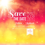 Save the date for personal holiday. Wedding invitation. Royalty Free Stock Image