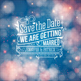 Save the date for personal holiday. Wedding invita Stock Photo