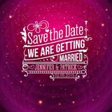 Save the date for personal holiday. Wedding invita Stock Photos