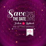 Save the date for personal holiday. Wedding invita Royalty Free Stock Photo