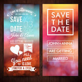 Save the date for personal holiday. Wedding invitation. Vector i Stock Photos