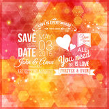 Save the date for personal holiday. Wedding invitation. Royalty Free Stock Photos