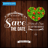 Save the date for personal holiday. Wedding invitation on wooden Stock Photo