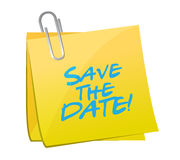 Save the date post it illustration design Stock Photos