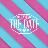 Save the date purple and blue lines background Royalty Free Stock Images