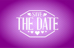 save the date purple texture background sign Royalty Free Stock Photography