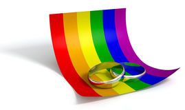 Save The Date Rings And Gay Paper Stock Image