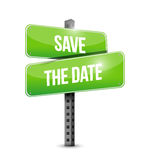 save the date road sign illustration design Stock Photo