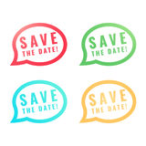 Save the Date round Buttons. Circle Eps10 Vector. Save the Date round Buttons. Circle Eps10 Vector illustration Stock Photos