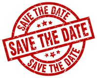 Save the date stamp Royalty Free Stock Photography