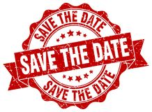 Save the date seal Royalty Free Stock Photography