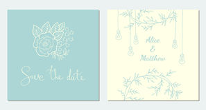 Save the Date. set of cards Royalty Free Stock Photos