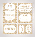 Save The Date. Set Of Wedding Invitation Cards. Royalty Free Stock Photo