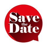 Save the Date sign speech bubble Royalty Free Stock Photography