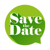 Save the Date sign speech bubble Stock Photo