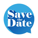 Save the Date sign speech bubble Stock Photography