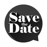 Save the Date sign speech bubble Royalty Free Stock Images