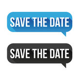 Save the Date speech bubble Stock Photo