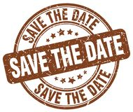 Save the date stamp Stock Image