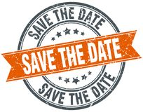 save the date stamp royalty free illustration