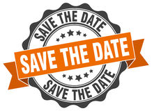 Save the date stamp Royalty Free Stock Photos