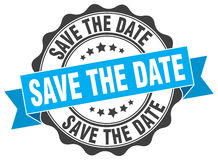 save the date stamp Royalty Free Stock Photo