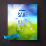 Save The date template for a Spring wedding Stock Images