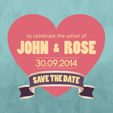 Save the date template vector/illustration Royalty Free Stock Image