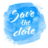 Save the date text Stock Image