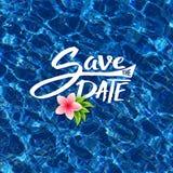 Save The Date tropical card design Stock Photos