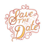 Save the date typographic vector. Illustration Stock Photography
