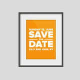 Save the date. Vector frame Royalty Free Stock Images