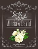 Save the date. Vector illustration Royalty Free Stock Photo