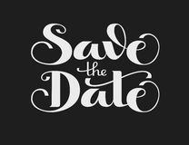 Save the Date. Vector lettering Stock Image