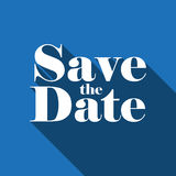 Save the Date vector lettering Royalty Free Stock Photography