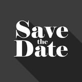 Save the Date vector lettering Stock Photos