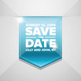 Save the date vector ribbon Stock Images